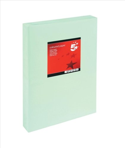 5 Star Coloured Copier Paper Multifunctional Ream-Wrapped 80gsm A3 Light Green [500 Sheets]