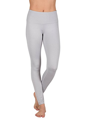 35682293d1 Galleon - 90 Degree By Reflex High Waist Power Flex Legging – Tummy Control  - Heather Silver - Large
