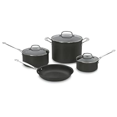 Cuisinart 66-7 Chef's Classic Nonstick Hard-Anodized 7-Piece Cookware Set