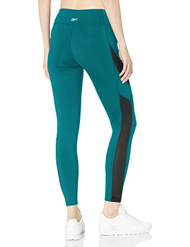 Reebok Workout Ready Mesh Tight, Seaport Teal, X-Large