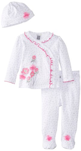 Petit Lem Baby-Girls Newborn Wild Neon Baby 3 Pieces Set, Pink Print, Newborn