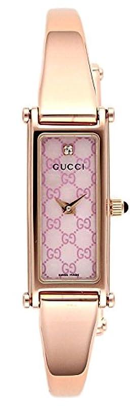 [구찌] 손목시계 1500 핑크 펄 문자판 YA015559 골드 [병행수입품]
