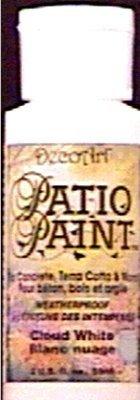 Oz Paint 8 Patio - DecoArt DCP14-9 Patio Paint, 8-Ounce, Cloud White by DecoArt