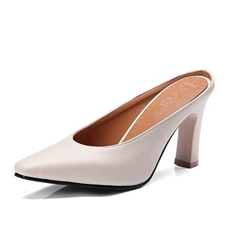 AdeeSu Stilettos Womens Spikes Stilettos AdeeSu Pointed-Toe Low-Cut Uppers Urethane Sandals SLC04395 Parent B07GFYD889 4ad663