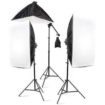 StudioFX 2400 Watt Large Photography Softbox Continuous Photo Lighting Kit 28\  x 20\  + Boom Arm Hairlight with Sandbag by Kaezi  sc 1 st  Amazon.com & Amazon.com : Fancierstudio Lighting Kit 2400 Watt Professional Video ...