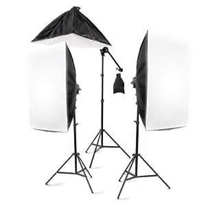 "StudioFX 2400 Watt Large Photography Softbox Continuous Photo Lighting Kit 28"" x 20"" + Boom Arm Hairlight with Sandbag by Kaezi"