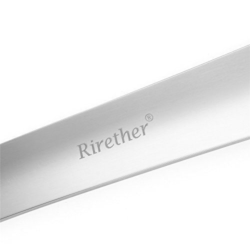 Long Handled Shoe Horn by Rirether: 2Pack Sturdy Stainless Steel Shoehorn for Shoes & Boots|Extra Long Non Bending Handle & Perfect Angle For Heel Sliding, Great for Men Women Seniors & Pregnancy by Rirether (Image #5)