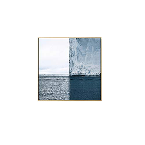 HANBINGPO Nordic Flying Seagull Blue Sea and Sky Square Canvas Painting Wall Art Pictures for Living Room Home Decor Beautiful Landscape,60x60m (No Frame),B