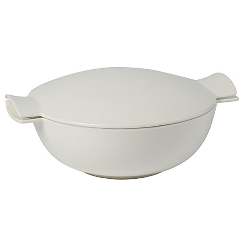 Soup Passion Tureen by Villeroy & Boch -Premium Porcelain -  Made in Germany - Dishwasher and Microwave Safe - Service for 4 - 84.5 Ounce Capacity - 12.5 x 10.25 x 4 Inches