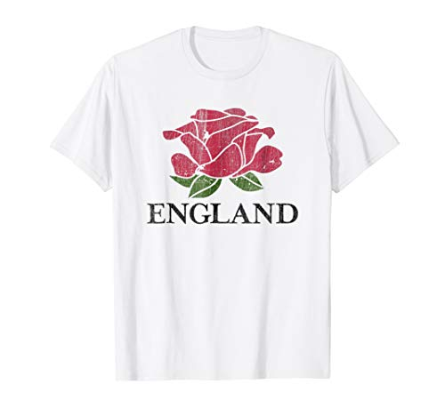 Distressed English Rugby Shirt | England Rugby Football Top