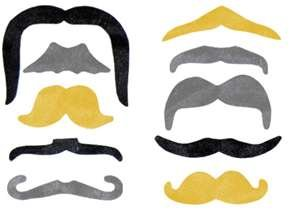 [PIRATE Costume Moustaches (12 count)] (Costumes With Moustaches)