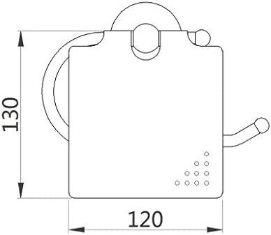 北欧調 トイレ用ロールホルダー トイレットペーパーホルダー 防錆 全2色 - ブラック