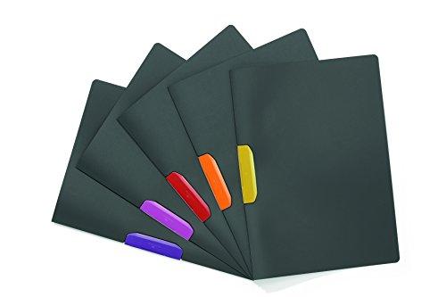 Yokes Charcoal - Durable Duraswing Color HUNKE & Yoke Domestic Clamp, Polypropylene, 30Sheets, Charcoal with Purple Clipboard