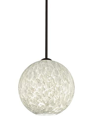 Besa Lighting 1TT-COCO1019-BR Coco 10 - One Light Stem Pendant, Bronze Finish with Carrera Glass ()
