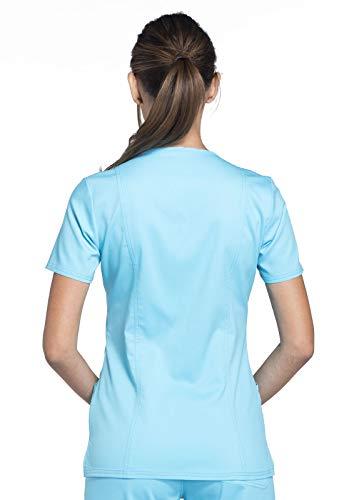 CHEROKEE Workwear Revolution Mock Wrap Scrub Top