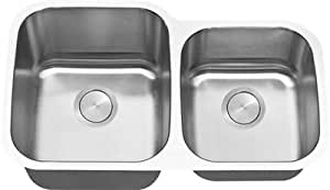 LI-300 Dalmacia C-TECH-I Undermount Kitchen Sink Stainless Steel 16 Gauge