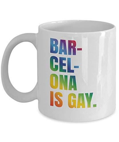 PEHTEN Barcelona Gay Pride Mug LGBT Spain Coffee Cup Gift Mug Coffee Tea Cup -