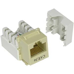 ((Pack fo 25) Keystone Punch Down Jack Cat-5e RJ-45 - Ivory)