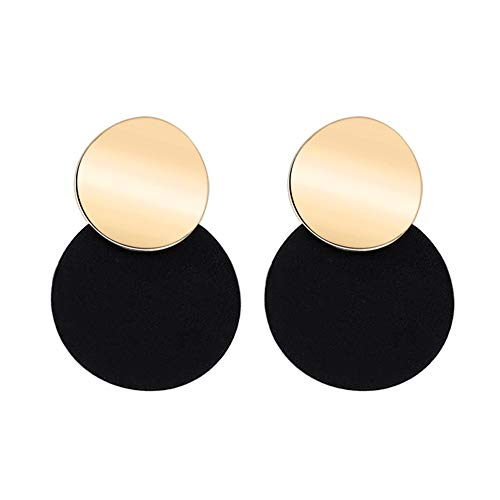 Ghuopa Round Stud Earrings for Women with Contrasting Shell Earrings