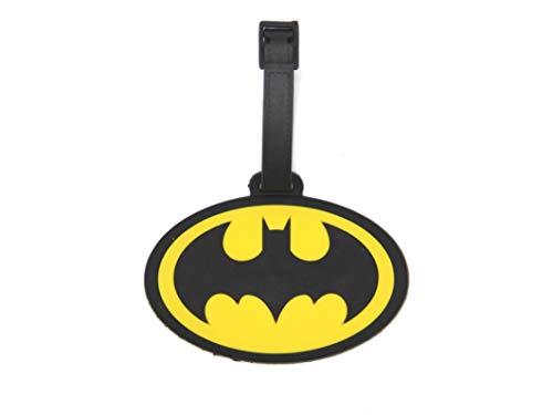 CellDesigns Cartoon Luggage Tag Suitcase ID Tag with Adjustable Strap (Batman Symbol) ()