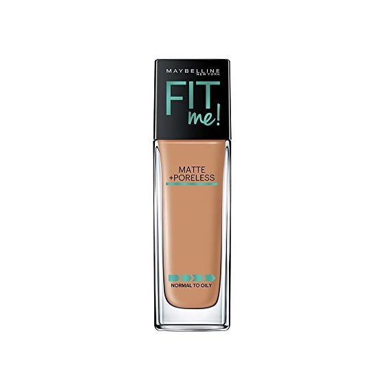 Maybelline New York Fit Me Matte+Poreless Liquid Foundation (With Pump), 330 Toffee, 30ml