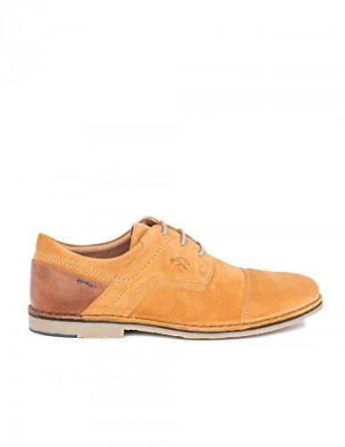 Fluchos Zapatos Cordones Serraje Mostaza