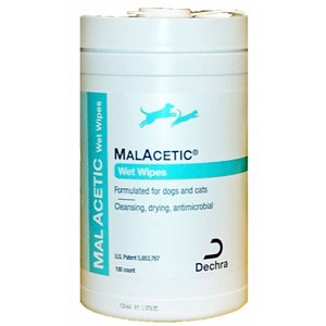 DermaPet Malacetic Wet Wipes/Dry Bath 100ct, My Pet Supplies