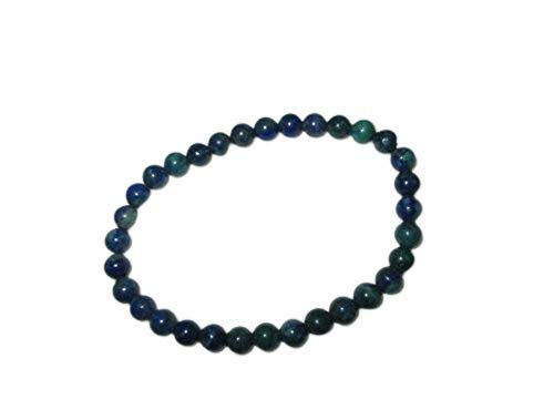 Powerful Azurite Stretch Bracelet 6 mm A++ Gemstone Original Genuine Healing Energy Metaphysical Confidence Progress Strength Prosperity Peace Divine