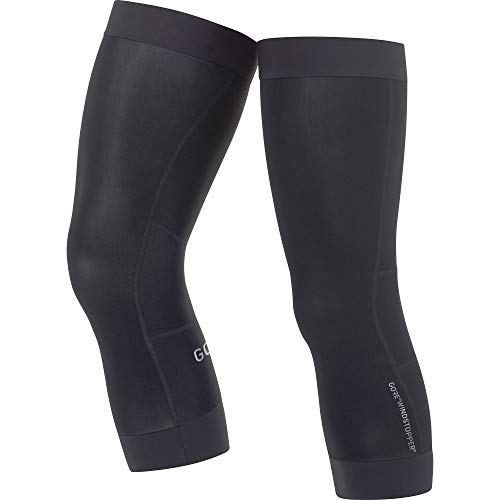 GORE WEAR C3 Unisex Knee Warmers GORE WINDSTOPPER, Size: L, Color: Black