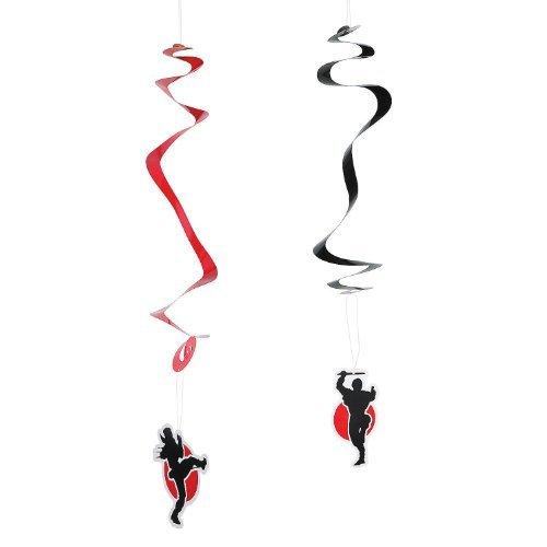 Ninja Warriors Hanging Swirls - 12 ct (Ninja Happy Birthday Banner)