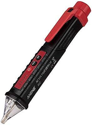 Festnight ANENG VD802 Sin contacto Detector de voltaje de CA Medidor 12V-1000v Estilo de pluma Indicador el/éctrico LED Voltaje de salida Dectetor Sensor Ingenio