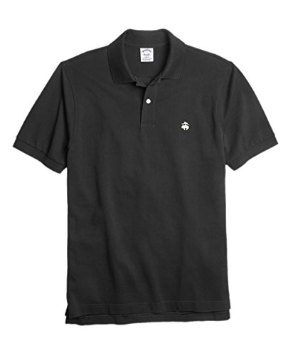 - Brooks Brothers Men's Slim Fit Performance Pique Polo Shirt Black Small