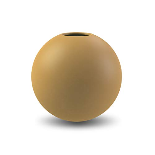 Cooee Design Ceramic Ball Vase Ochre 20 cm