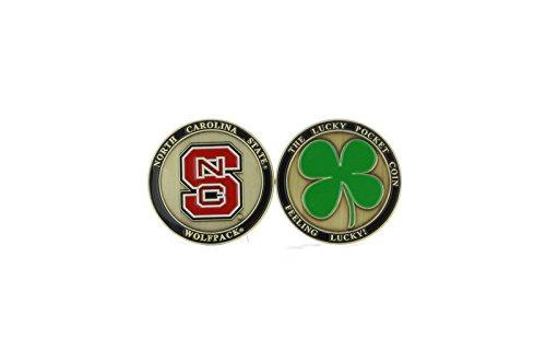 (Alumni Associtation NEW! North Carolina State Wolfpack Ball Marker, Golf, Brat Lucky Pocket)
