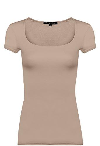 Modal shirt Courtes Clara Manches T Col Vous Capes 02 Beige Paris En Rendez Carré nvTx4q