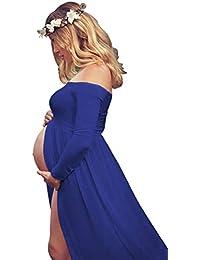 Women's Off Shouler Long Sleeve Maternity Dress for...