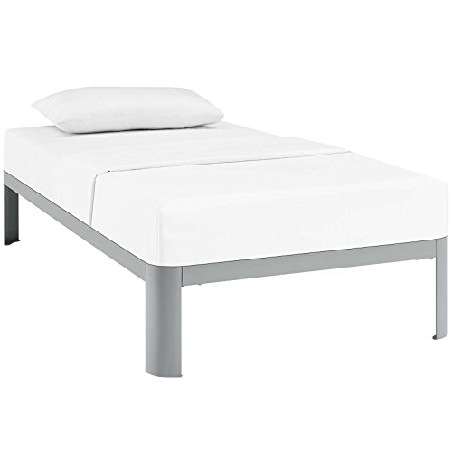 Modway Corinne Steel Twin Modern Mattress Foundation Platfor