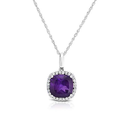 NATALIA DRAKE 2.95Cttw Amethyst & White Topaz Diamond Fashion Earring ()