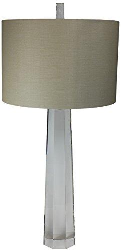 - Urban Designs 1385589 33-Inch Column Table Lamp, Crystal