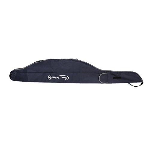 Carp Rod Bags - MonkeyJack 160CM Large Carp Fishing Rod Tackle Bags Padded Luggage Holdall Carry Case