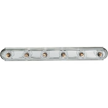 (Progress Lighting P3026-15 6-Light Embossed Wall Mount Bracket Sockets Are On 6-Inch Centers and Wall Mount Only, Polished Chrome)