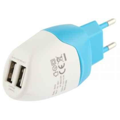 CARGADOR CASA MOVIL Y TABLET DOBLE USB 5V 2A: Amazon.es ...