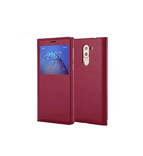 Yuchu Hua Wei Honor 6X Case Cover, PU Cover Phone, Honor 6X Case Cover, Window Display Flip Window Screen Protective Case For Huawei Honor 6X (Red) - Phone Cover Huawei Windows Phone