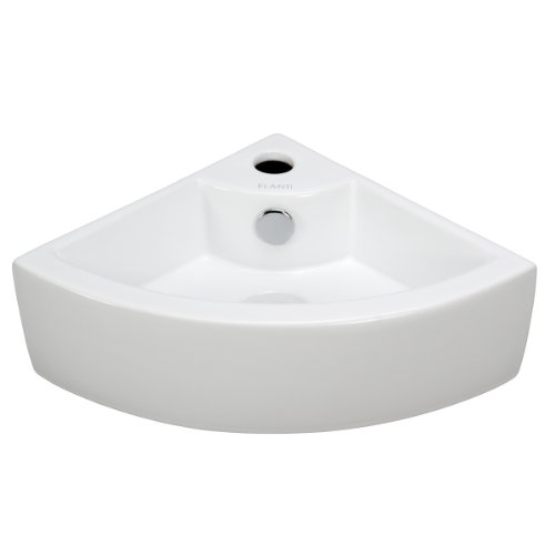 Elanti Collection EC9808 Sink, Corner (17.5 x 12.2 x 4.9 Inches), White