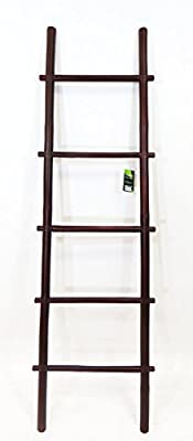 5' Bamboo Ladder Rack, rosewood stain