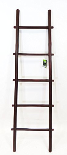 5' Ladder Rack (5' Bamboo Ladder Rack, rosewood stain)