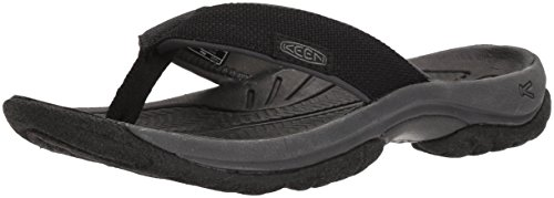 KEEN Womens Kona Flip-W Flat Sandal, Black/Magnet, 7 M US
