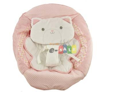 Fisher Price BOUNCER Replacement SEAT PAD & Infant Body Support / Cushion COVER , BFB18 MY LITTLE SNUGAKITTY BOUNCER PAD