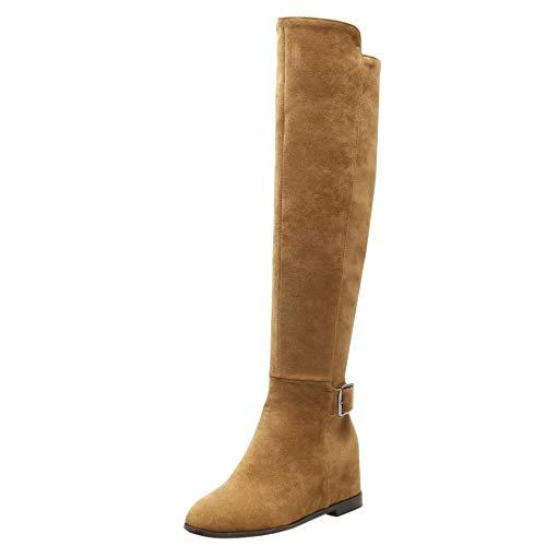 Hautes Jaune Femmes Bottes Chaussures Hiver Taoffen xRpgYqwW