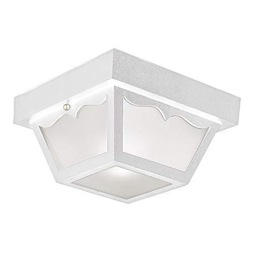 Design House 501858 2 Light Indoor/Outdoor Ceiling Light, White